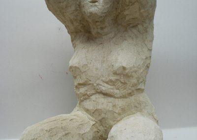 Badende, freie Skulptur
