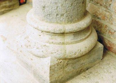 Austausch Säulenbasis
