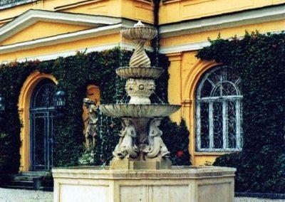 Ev. Akademie Tutzing, Vierungen, Rück- und Wiederaufbau, Rekonstruktion oberste Brunnenschale, im Unternehmerauftrag