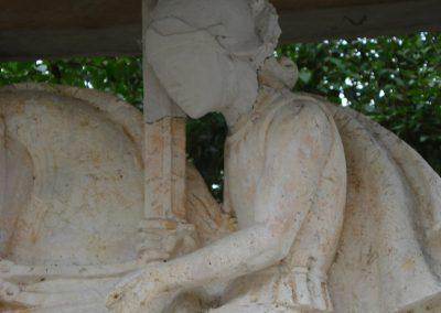 St. Martin Bernried, Rekonstruktion des Kopfes in Gips