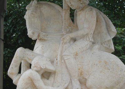 St. Martin Bernried, Rekonstruktion des Kopfes aus Naturstein