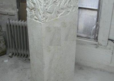 Denkmal, Fische, Kalkstein