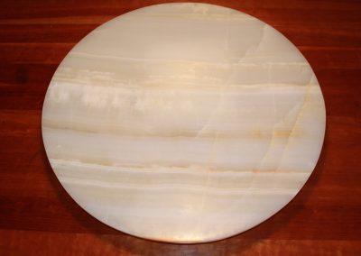 Schale aus Onyx, D: 80 cm