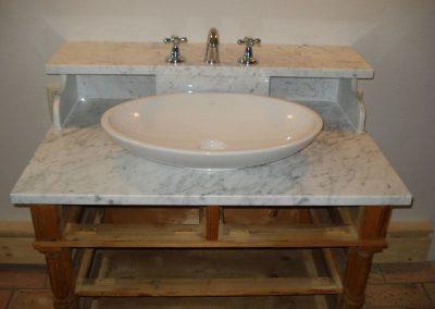 Waschtisch, Carrara-Marmor