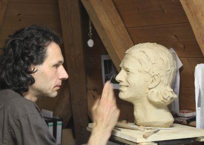 Arbeiten an Pizarro Büste