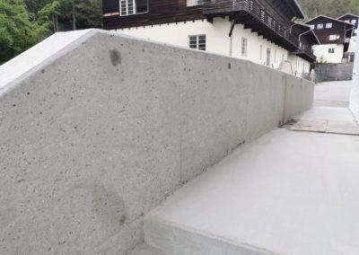 Gebirgsjägerkaserne Murnau, Herstellung Betonoberflächen wie Altbstand